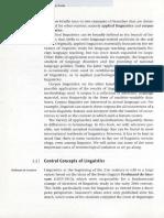 Central Concepts of Linguistics