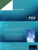Problemas en Buceo Deportivo, Fisiología, Primeros Auxilios, Normativa