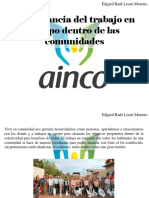 Edgar Raúl Leoni Moreno - Importancia Del Trabajo en Equipo Dentro de Las Comunidades