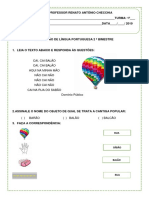 AVALIAÇÃO DE LÍNGUA PORTUGUESA.docx