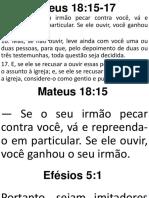 Restaurando Relacionamentos - Mateus 18