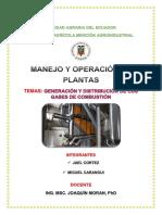 Generación y Distribución de Los Gases de Combustión