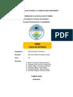 0_grupo 1. Tasa de Interés - Administración Financiera - Vii Ciclo