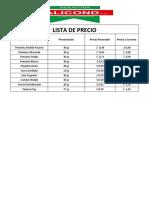 Lista de Precio Alicond Junio