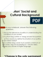 Man' Social and Cultural Background (2)