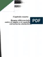 Capítulo Cuarto Rasgos Diferenciales, Estructuras Sintácticas