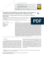 Contribution of Systems Thinking and Complex Adaptive System Attributes To