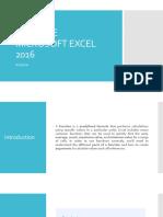 Advance Microsoft Excel 2016