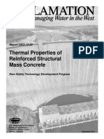 USBR DSO-12-02 Thermal Properties of Reinforced Mass Concrete