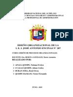 Diseño Organizacional JAE