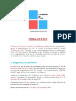 Programa Creadores de Valor Modalidades 2019 V2.