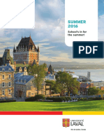 Université Laval, Summer 2016