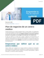 Plan de negocios de un centro médico