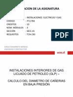 CLASE N°4 INSTALACIONES DE GAS