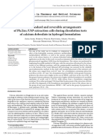 [Current Issues in Pharmacy and Medical Sciences] Effect of Standard and Reversible Arrangements of Ph.eur.USP Extraction Cells During Dissolution Tests of Calcium Dobesilate in Hydrogel Formulation