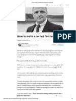 How to Make a Perfect First Impression