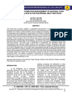 Warehouse and Distribution Management of National Food Authority ( NFA) - Allan F. Galvez