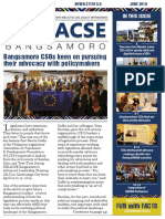DELACSE Bangsamoro Phase 2 newsletter – June 2019 Issue