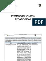 Protocolo de Accion en Caso de protocolo de salida pedagógica