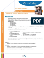 Asfodep Autonomie Fle Diplome Delf a2