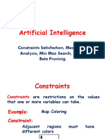 AI Unit 2- Constarint Sattisfaction, Means End Analysis, Adversial Search