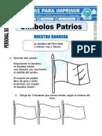 Ficha de Símbolos Patrios Para Primero de Primaria