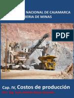 Cap. IV, Costos Mineros