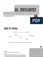 Political Idealogies