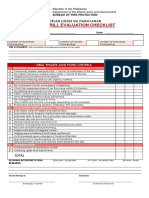 Fire Drill Evaluation Checklist