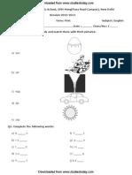 CBSE Class 1 English Worksheet (1)