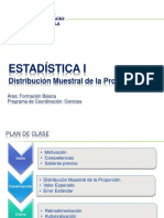 Estadistica I - Semana14 - Distribucion Muestral de La Proporcion