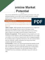 Determine Market Potential