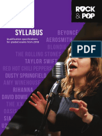 Trinity R&P Vocals Syllabus From 2018