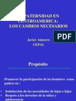 La Paternidad en Centroamérica A Los Cambios Necesarios