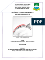 Buku Program Pertandingan BADMINTON Docx