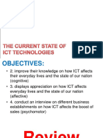 1 the Current State of Ict Technologies - In the Philippines