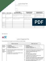 Course Design Plan TEMPLATE StudioX