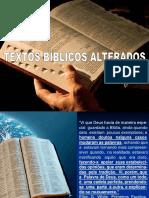 Textos Alterados Biblia