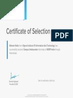 Campus Ambassador Internship Certificate
