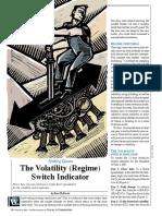 60-The Volatility (Regime) Switch Indicator
