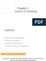 Introduction of breeding