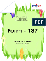 COVER FORM 137 Department of Education