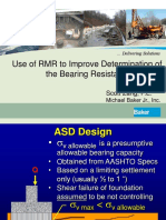 2010 STGEC - Use of RMR to Determine Bearing Resistance of Rock