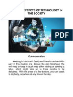 Positive Effects of Technology in the Society