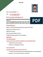 Resume Vijeesh Kumar
