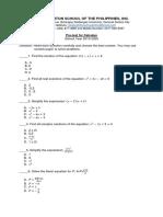 PRetest Pre Calculus