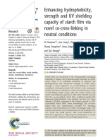 Enhancing Hydrophobicity, Strength and UV Shielding Capacity of Starch Film via Novel Co-cross-linking in Neutral Conditions