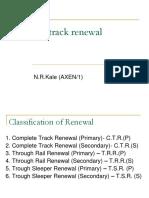 Manual Track Renewal IRSE