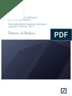 Deutsche Bank Indonesia - Annual Report - Deutsche Bank Cabang Indonesia - Laporan Tahunan 2011