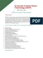 413025789 International Journal of Game Theory and Technology IJGTT
